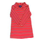 J Bailey *PREORDER* Red and White Stripe Cowl Neck Dress