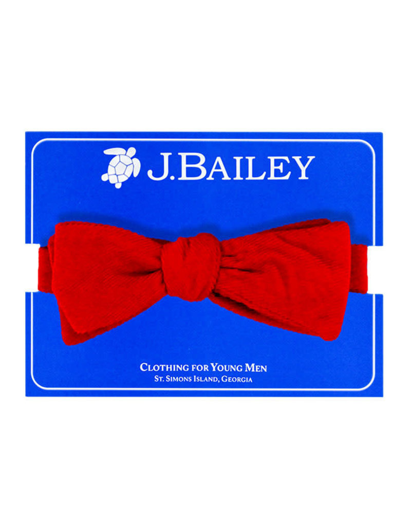 J Bailey  Red Cord Bow Tie