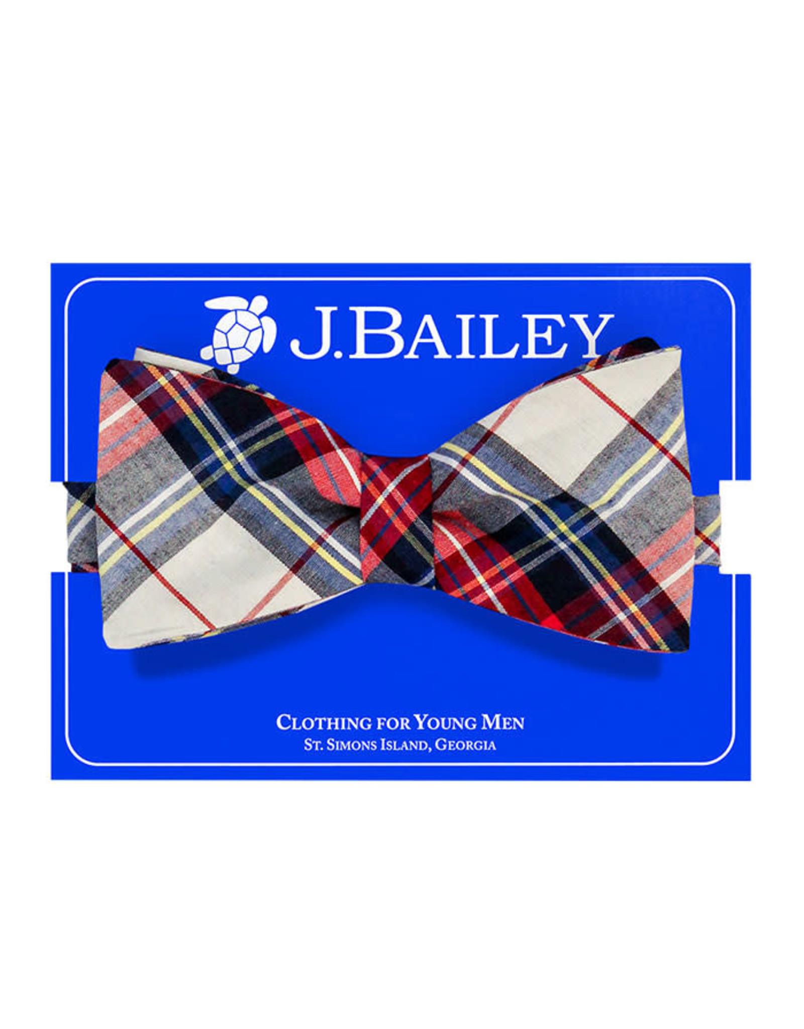 J Bailey Shaw Plaid Bow Tie