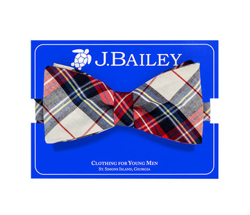 J Bailey *PREORDER* Shaw Plaid Bow Tie