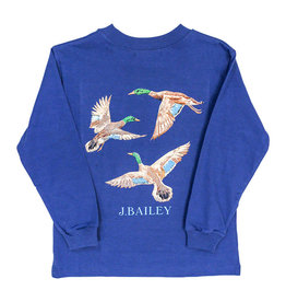 J Bailey *PREORDER* Ducks on Royal Logo Tee