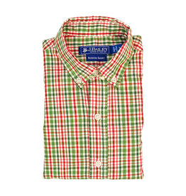 The Bailey Boys Mistletoe Plaid Button Down Shirt