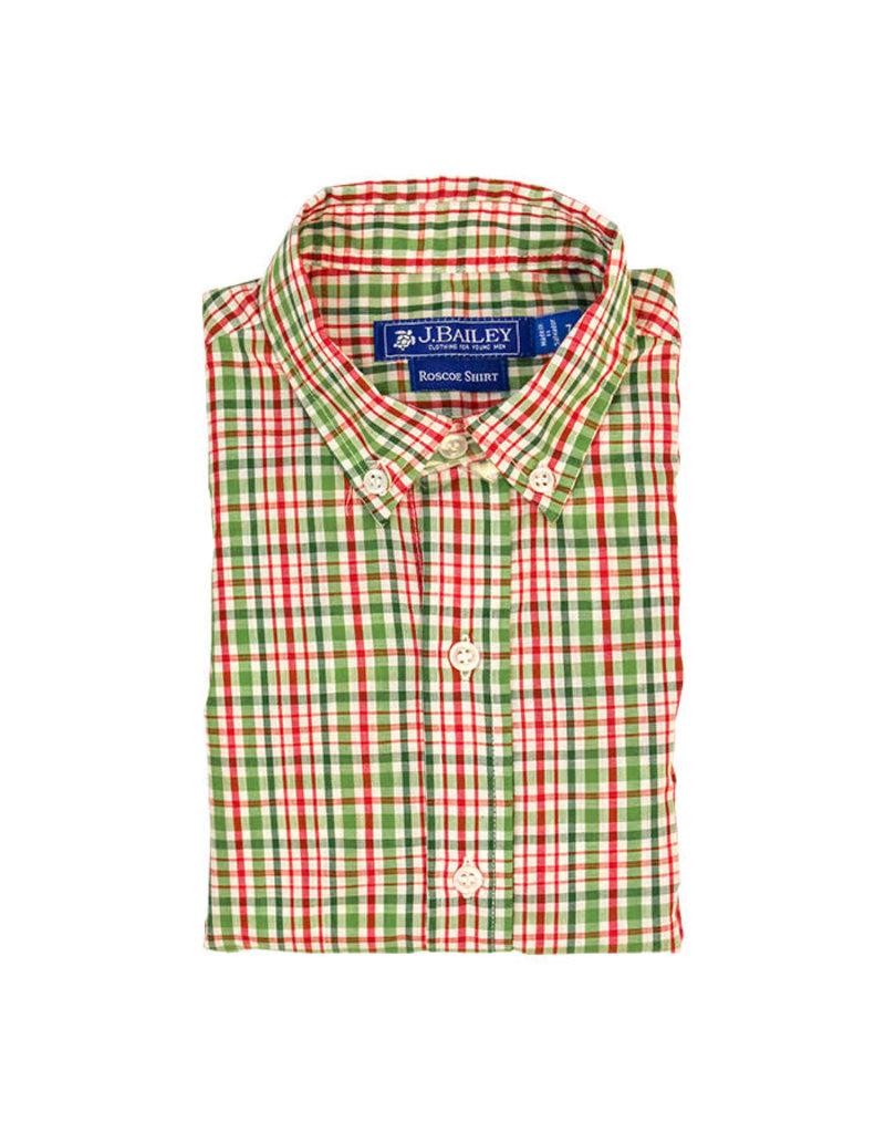 The Bailey Boys *PREORDER* Mistletoe Plaid Button Down Shirt