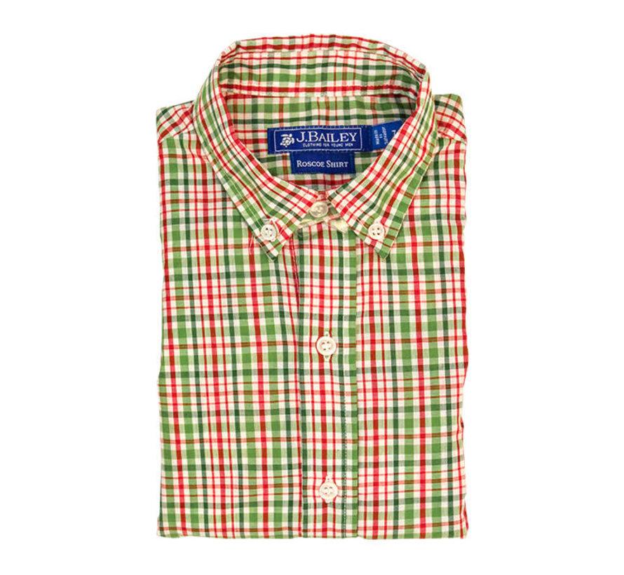 *PREORDER* Mistletoe Plaid Button Down Shirt