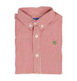 The Bailey Boys Red Windowpane Button Down
