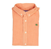 The Bailey Boys *PREORDER* Orange Windowpane Button Down