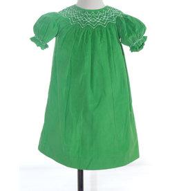 Pearl Smocked Cord Bishop Dress