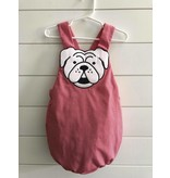 Magnolia Steel Red Gingham Bulldog Boy Bubble