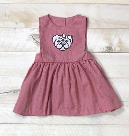 Magnolia Steel Red Gingham Bulldog Dress
