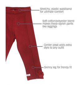 RuffleButts Cranberry Ponte Pants