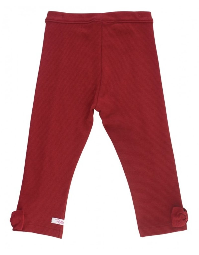 RuffleButts Cranberry Ponte Pants