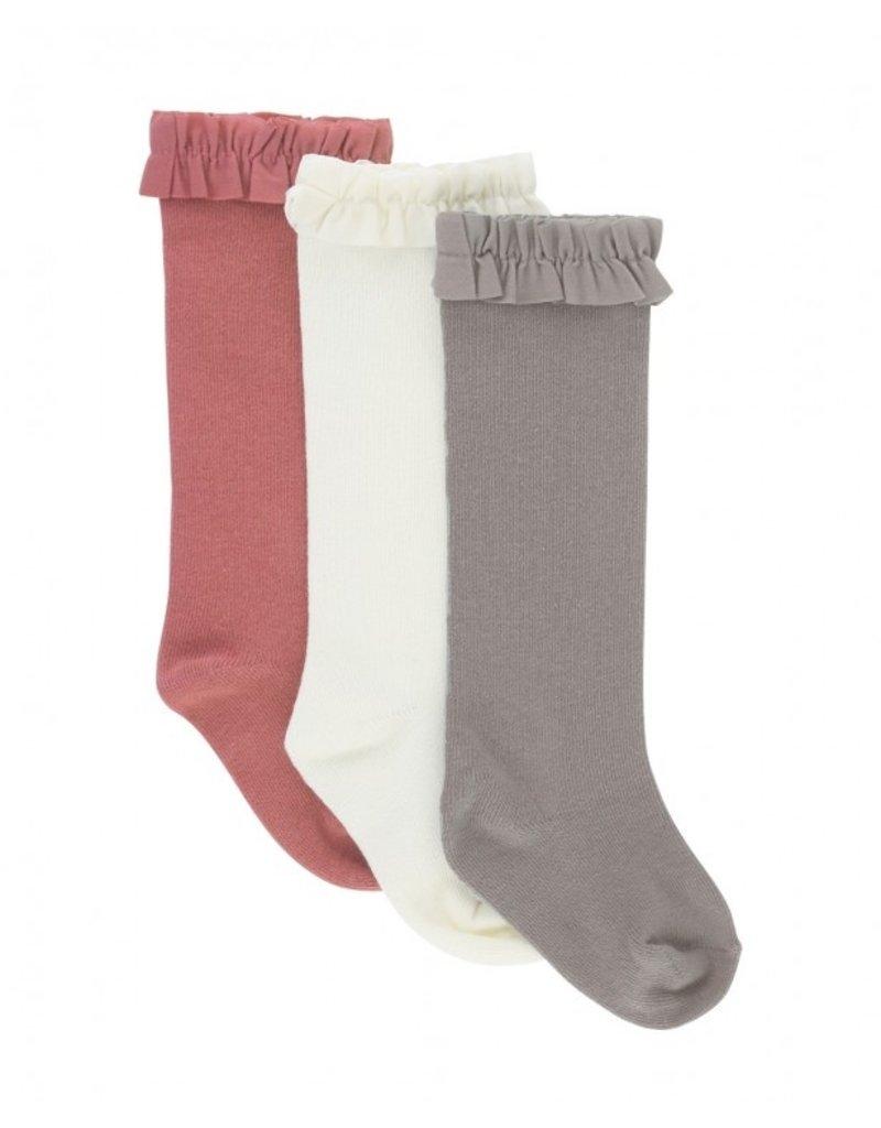 RuffleButts 3-Pack Knee High Socks