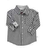 Black & White Gingham Button Down Shirt