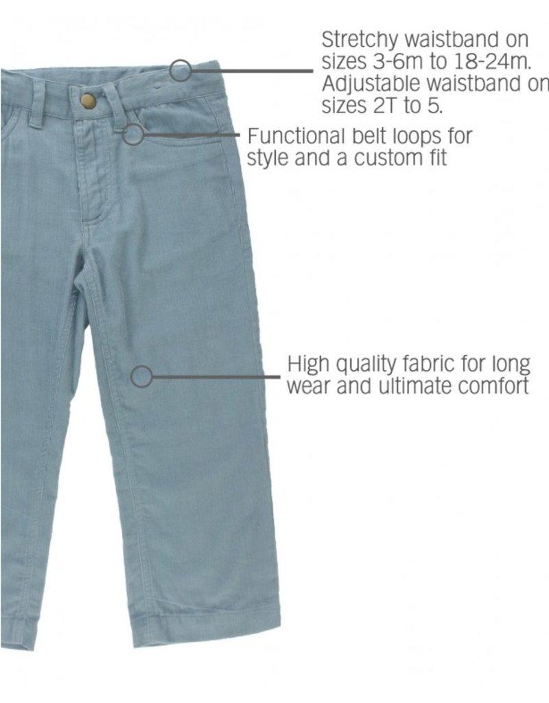 Slate Straight Corduroy Pants