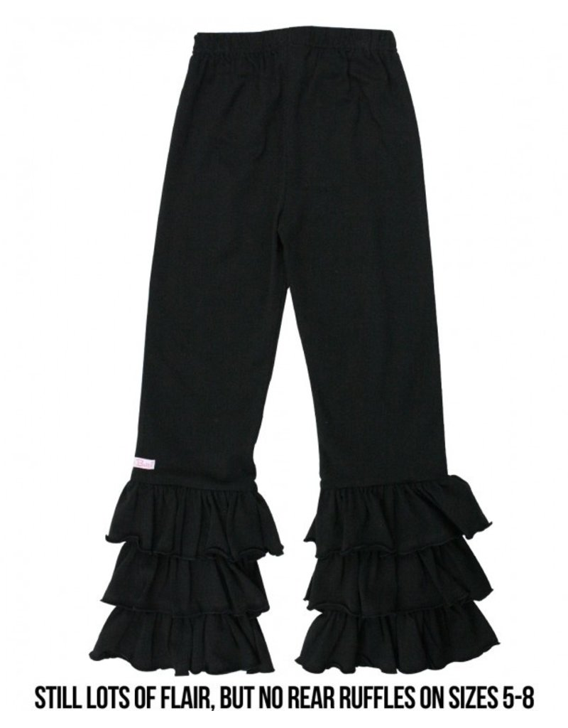 RuffleButts Black Everyday Ruffle Pants