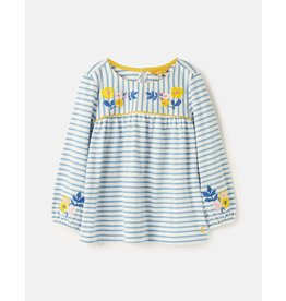 Joules Phoebe Luxe Embroidered Jersey Smock Top