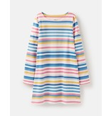 Joules Longsleeve Shift Dress in Multistripe