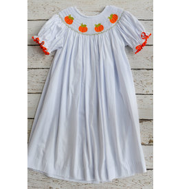 Three Sisters Pumpkin Smocked Bishop Dress