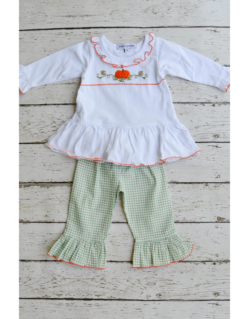 Sweet Dreams Seafoam Pumpkin Girls Pant Set
