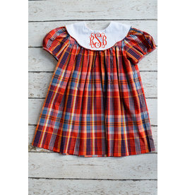 Fall Plaid Monogrammable Dress
