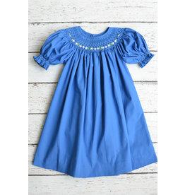 Smocked Short Sleeve Bishop Dress