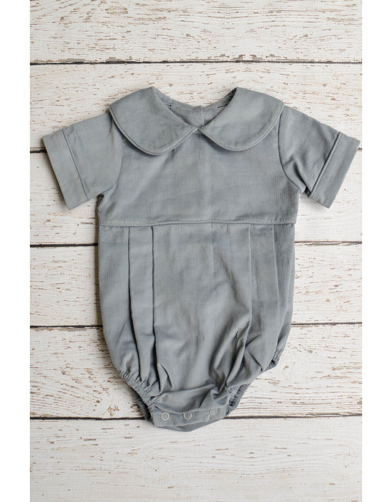 Zuccini Basic Boy Rounded Peter Pan Collar Corduroy Bubble in Cement
