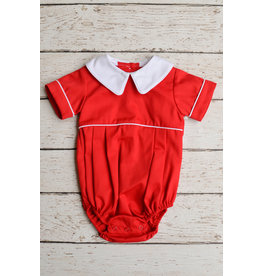 Zuccini Basic Boy Peter Pan Pointed collar in Red