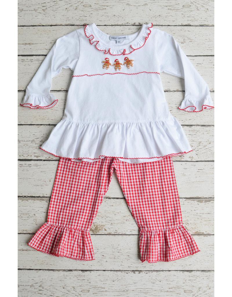 Sweet Dreams Girls Gingerbread Pants Set