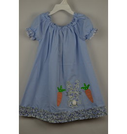 Three Sisters Bunny Applique Dress