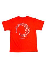 J Bailey Fish Swirl Cayenne Logo Tee