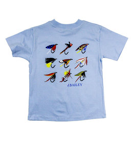 J Bailey Lures Light Blue Logo Tee