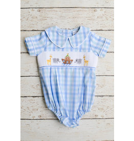 Three Sisters Noahs Ark Boys Smocked Bubble