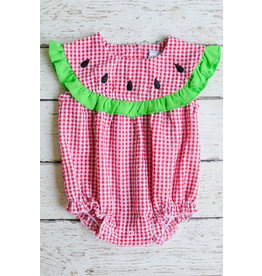 Three Sisters Girls Watermelon Applique Bubble