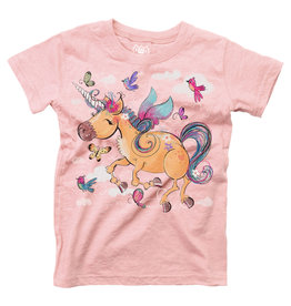 Wes & Willy Short Sleeve Unicorn Blend Slub Tee