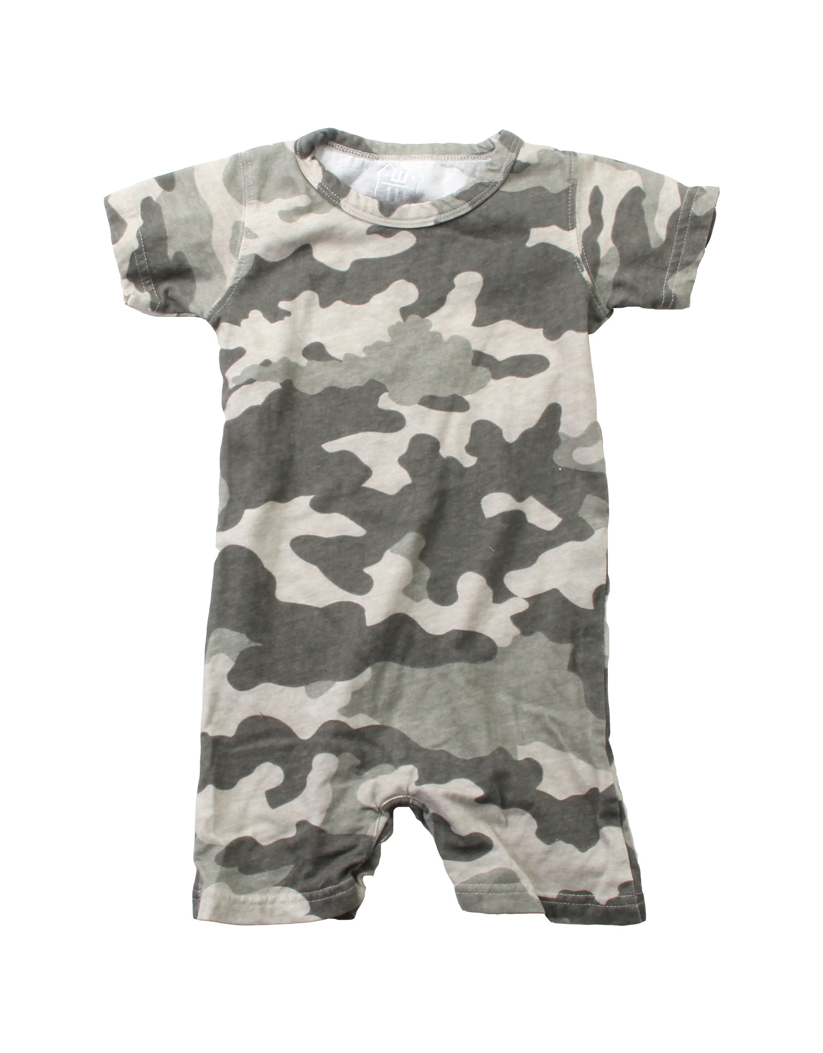 Wes & Willy Short Sleeve Camo Romper