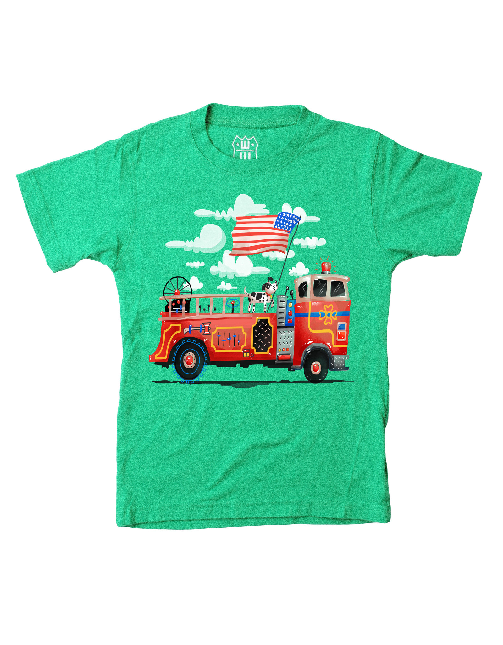 Wes & Willy Short Sleeve Firetruck Tee