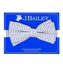 J Bailey Sailor Blue Seersucker Bow Tie