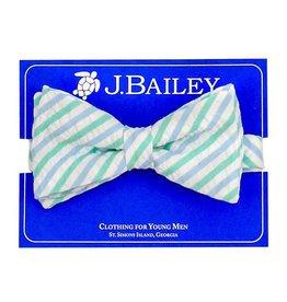 J Bailey Ocean Seersucker Bow Tie