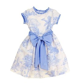 The Bailey Boys Blue Belle Toille Empire Dress
