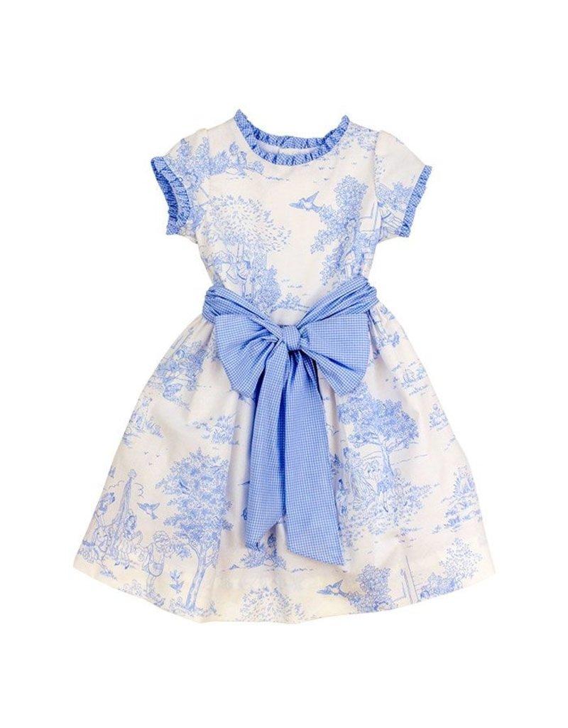 The Bailey Boys Blue Belle Toille Empire Dress