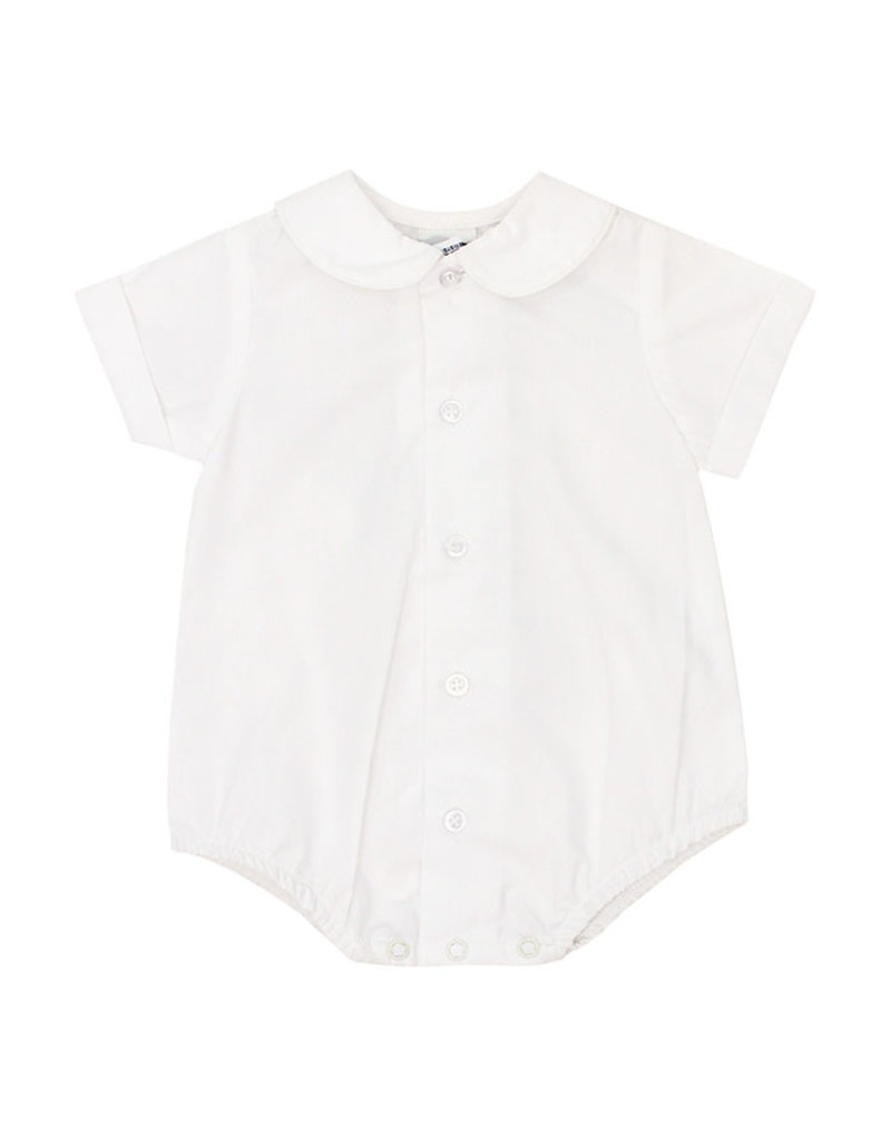 The Bailey Boys Boys White Piped Shirt with Snap