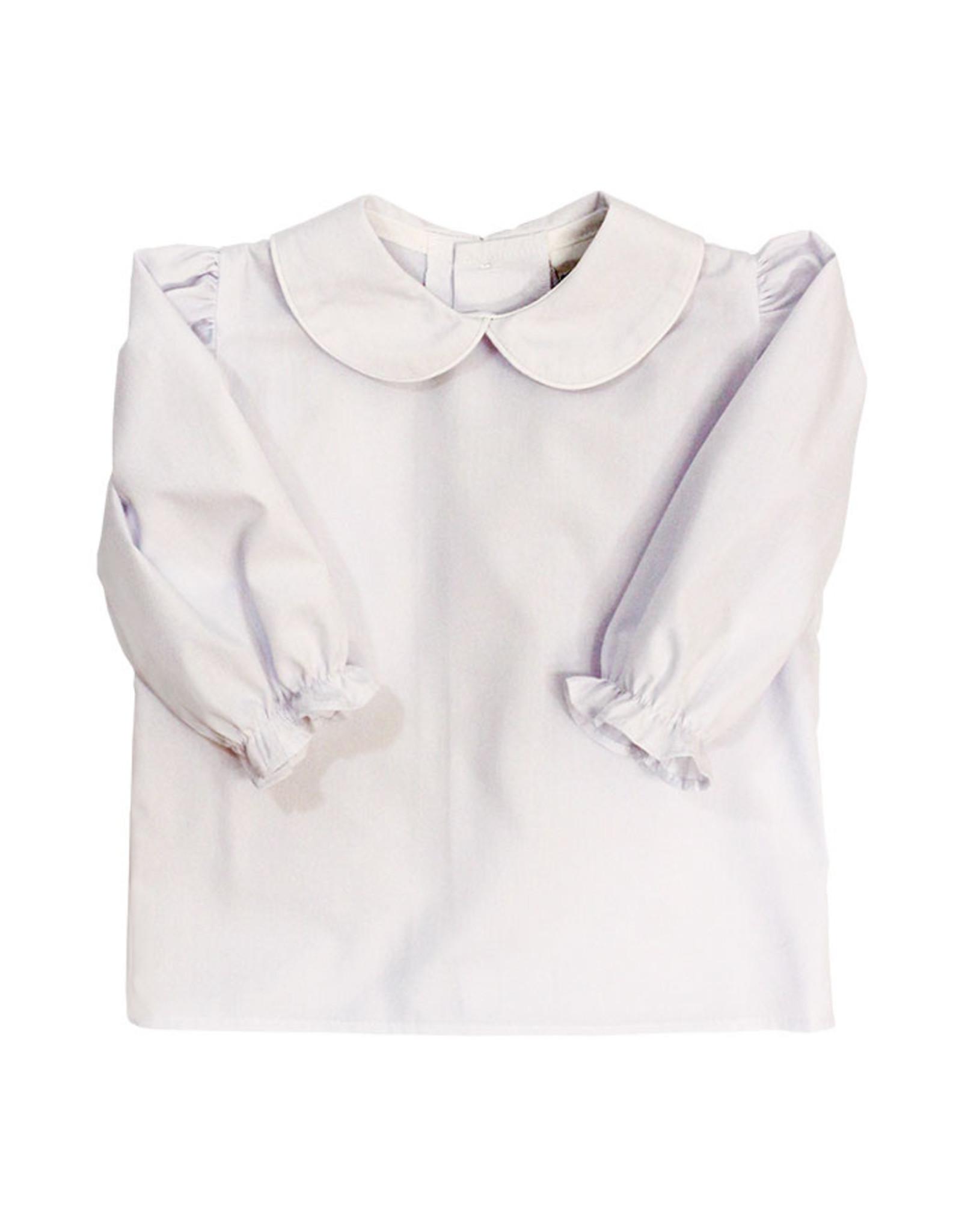 The Bailey Boys Longsleeve Girls Button Back Peter Pan Collar Blouse