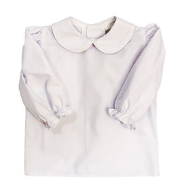 The Bailey Boys Longsleeve Girls Button Back Peter Pan Collar Blouse