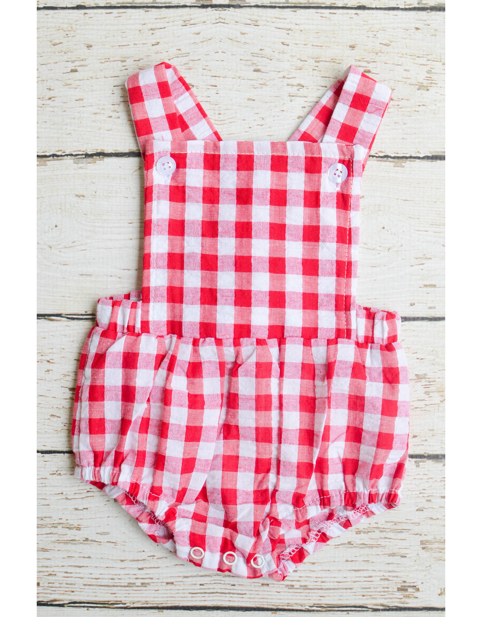 Three Sisters Boys Red Gingham Bubble