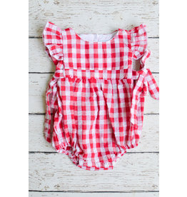 Three Sisters Red Gingham Bow Tie Bubble