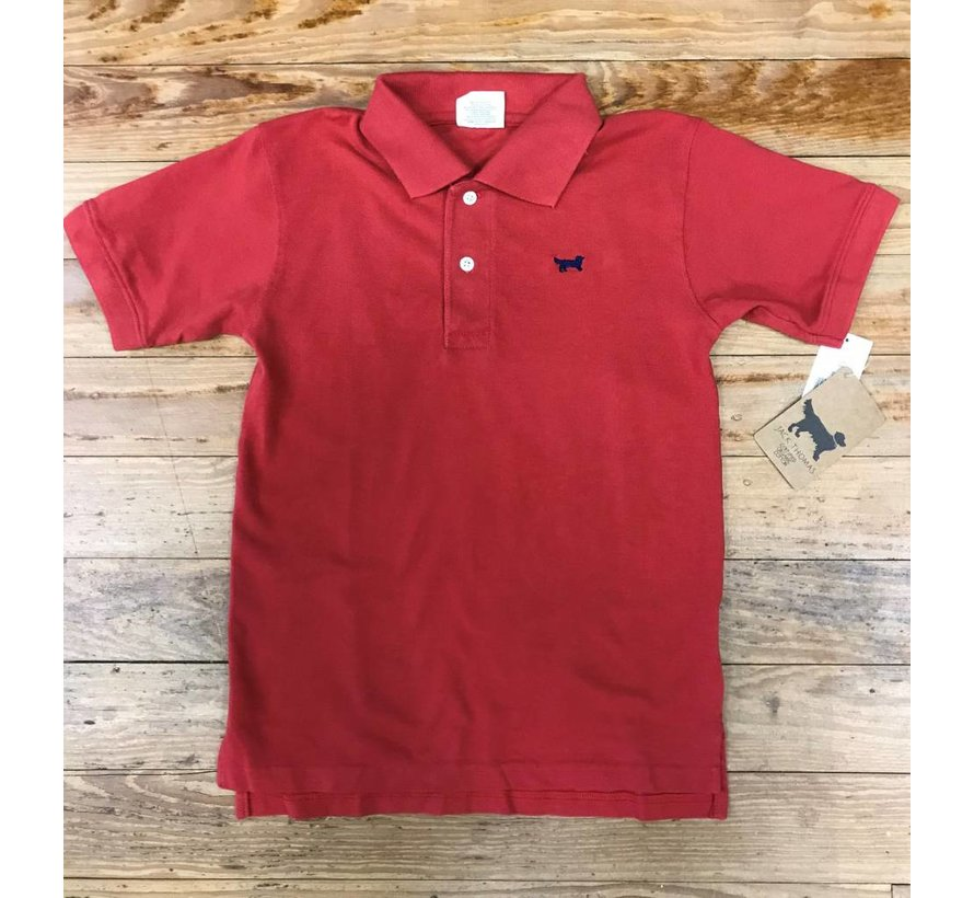 Classic Short Sleeve Pique Polo in Nantucket Red