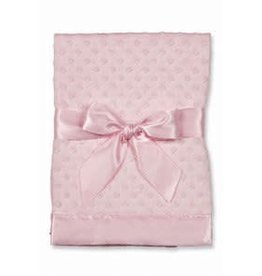 Bearington Baby Dottie Snuggle Satin Back Blanket (Pink)