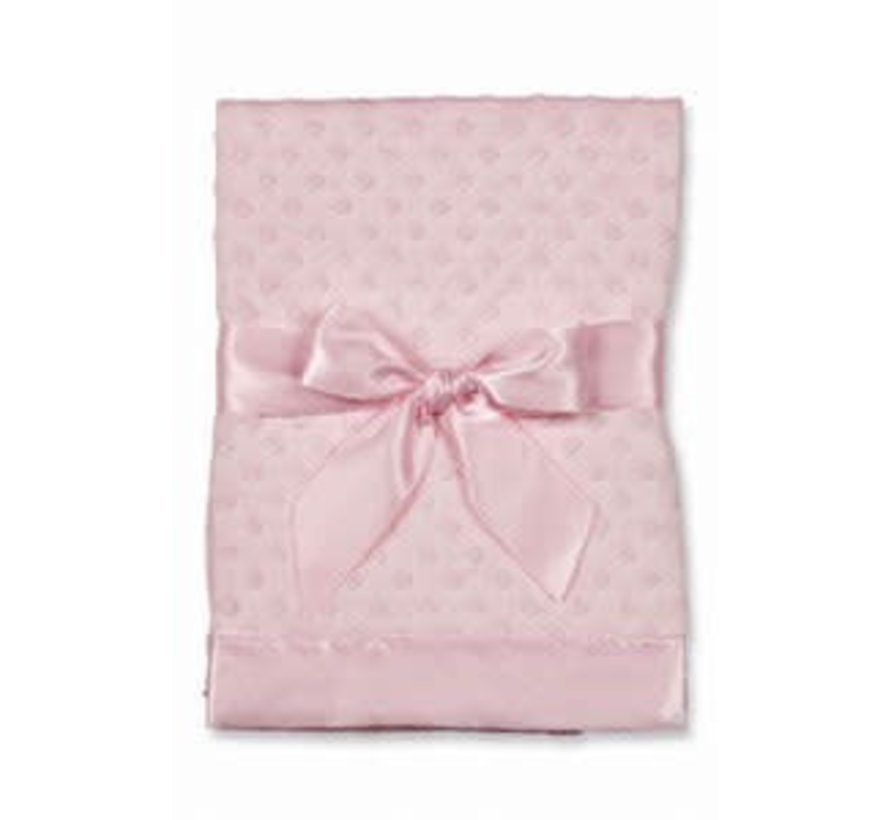 Dottie Snuggle Satin Back Blanket (Pink)