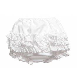 Sarah Louise White Ruffle Panty Diaper Cover