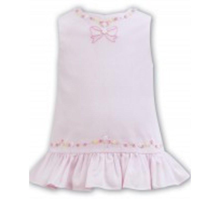 Pink Sleeveless Aline Hand Embroidered Dress